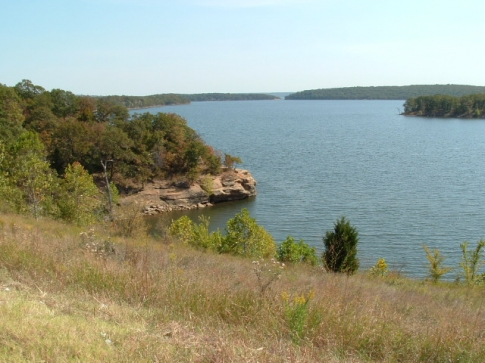An arm of Lake Skiatook south of Highway 20.