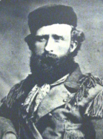 Lt. Col. George Armstrong Custer led troops during an 1868 dawn surprise attack on the village of Cheyenne Peace Chief Black Kettle on the banks of the Washita River in what is now western Oklahoma.  The historic massacre is interpreted at the Washita Battlefield National Historic Site in Cheyenne.  Photo courtesy of the Oklahoma Historical Society.