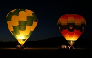 Stick around until after the sun goes down at the Poteau Balloonfest to see spectacular balloon glows at night.