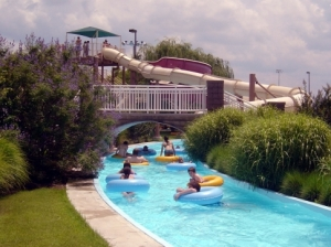 A trip down the lazy river at Muskogee's River Country Family Water Park is a great way to cool off on a hot day.