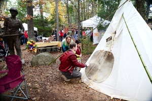 At the annual Beavers Bend Folk Festival & Craft Show, demonstrations of crafts and exhibits showing the culture and technology from the turn of the century fill Beavers Bend State Park.