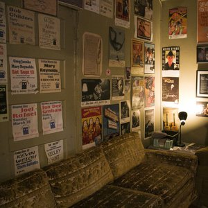 Interior of the artist Green Room at The Blue Door