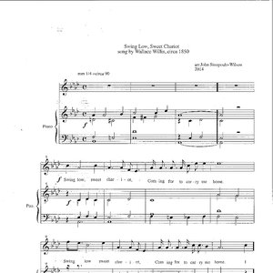 "Arrangement of ""Sweet Low, Sweet Chariot,"" written by Wallace Willis, page one."