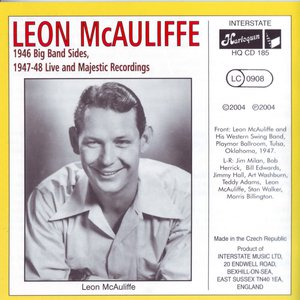 Album cover for the 2004 Harlequin CD of Leon McAuliffe 1946 Big Band Sides and 1947-48 Live and Majestic Recordings