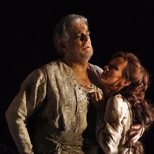 Sarah Coburn with Placido Domingo at the Washington National Opera's production of Tamerlano