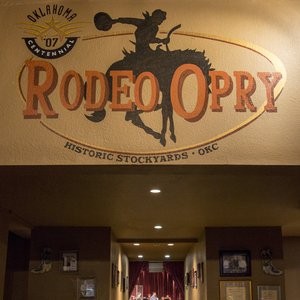 The Rodeo Opry stage as seen from the entrance