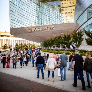 Crowds gather for a show at the BOK Center.