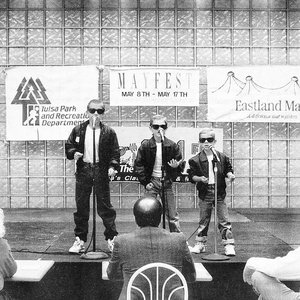 Hanson performing at Eastland Mall as part of Tulsa's International Mayfest in 1992.