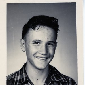 Roger Miller smiles for his Erick High School yearbook photo.