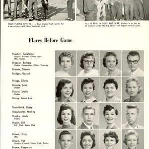 Leon Russell, who was known as Russell Bridges at the time, is pictured as a high school senior on the far right in the top row of his yearbook.