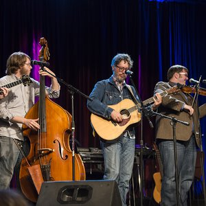 The F5four bluegrass group performing at the Rodeo Opry in August 2014