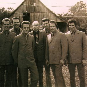 Albert Brumley (center) with The Thrasher Brothers in 1970