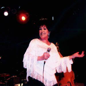 Wanda Jackson performs live on stage.