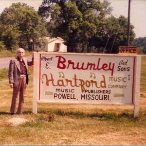 Albert Brumley at his office in Powell, Missouri in the spring of 1977