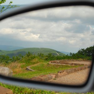 The Talimena National Scenic Byway provides many turnouts to take in the views of the Kiamichi Mountains and Ouachita National Forest in southeastern Oklahoma.