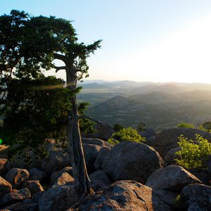 Mount Scott offers breathtaking views of the Wichita Mountains in southwestern Oklahoma.