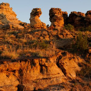 Dramatic rock formations can be found in the area surrounding Black Mesa State Park in northwest Oklahoma.