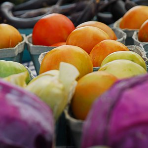 Fresh produce from local farmers is available at the Cherry Street Farmers Market in Tulsa.