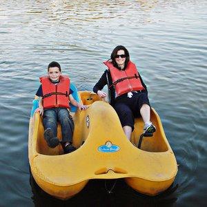 Paddleboating in Beavers Bend State Park, near Broken Bow, is a great way to get outdoors and enjoy time with your kids.