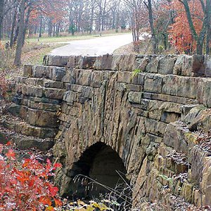 The care with which this bridge at Osage Hills State Park was built demonstrates the pride that the Civilian Conservation Corps took in their work as they built state park infrastructure during the Great Depression.