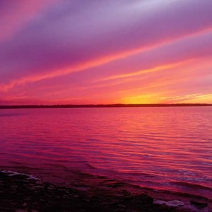 A magnificent sunset sets Lake Eufaula State Park aglow at day's end.
