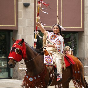 The Red Earth Parade in Oklahoma City signals the beginning of the Red Earth Festival each June.