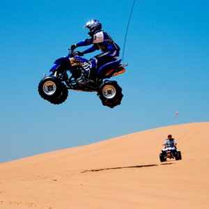 ATV enthusiasts flock to Little Sahara State Park near Waynoka where they can fly over dunes that stretch across 1,600 acres and are up to 75 feet tall.