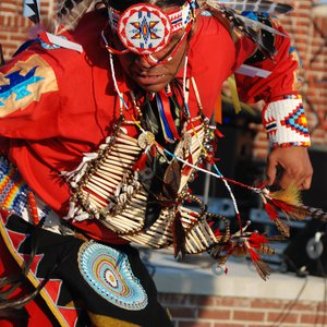 A member of the Anoli Dance Troupe performs at the Magnolia Festival in Durant.