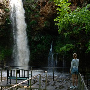 The crown jewel of Natural Falls State Park in West Siloam Springs is this 77-foot tall cascade that drops into a rock grotto below.