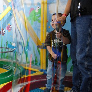 Kids play to learn at the Jasmine Moran Children's Museum in Seminole.  Little ones can try out several careers from being a newscaster to presiding over a trial as a judge.  Or, they can just have fun like encapsulating themselves in a giant bubble.