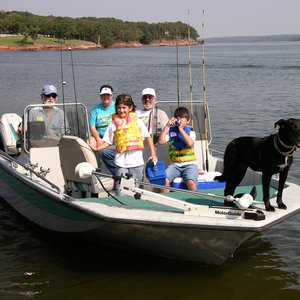 Fishing is a family affair at Lake Thunderbird State Park in Norman.