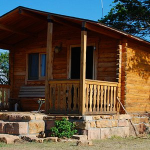 This adorable cabin at Hitching Post Lodging & Ranch in Kenton welcomes guests to stay awhile and take part in ranch activities with the host family.
