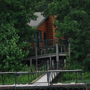 """This handicap-accessible cabin at Greenleaf State Park helps those with physical challenges get outdoors and enjoy the park.  Ask about the """"Cabin on the Lake"""" to learn more."""