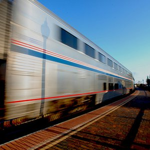The Heartland Flyer takes off from a depot in Ardmore.  This AMTRAK passenger train carries tourists from Oklahoma City to Fort Worth, TX.  Stops along the way include Norman, Pauls Valley and Ardmore.