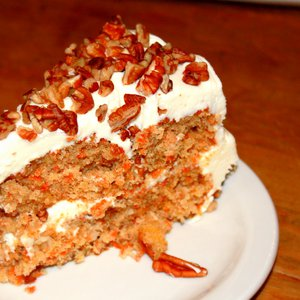 Dive into a slice of scrumptious carrot cake at The Coffee House on Cherry Street.