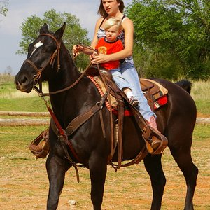 Horseback riding is a fun way for the whole family to enjoy Oklahoma's western heritage at The Riding Stables at Lake Stanley Draper in Oklahoma City.