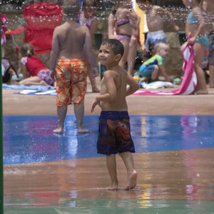 The spray park within Lake Wister State Park in southeastern Oklahoma is a popular destination for families.