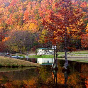 Fall color explodes at Beavers Bend State Park in southeastern Oklahoma.