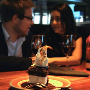 Conversation over dessert at makes for a perfect date night.