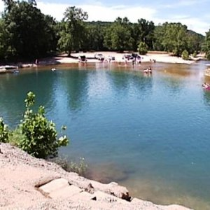 Blue Hole Park in Salina is a popular spot for swimming, catching crawfish and camping.