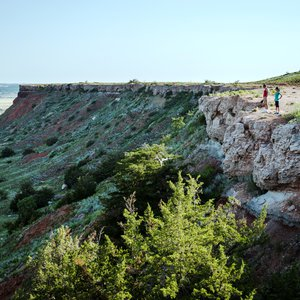 Visitors are welcome from dawn to dusk at Gloss Mountain State Park.