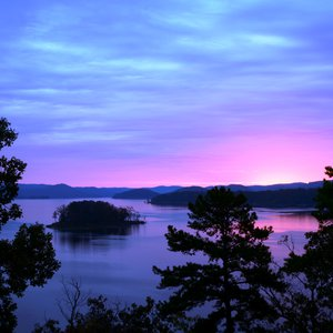 Lake Wister State Park is nestled along the shores of the lake and offers gorgeous views like this one as well as camping, cabins and plenty of outdoor activities.