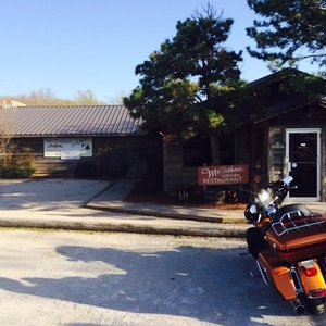 The beloved McGehee's Catfish Restaurant is located near an old airstrip near the Oklahoma/Texas border and serves all-you-can-eat fried catfish that will leave you coming back for more.