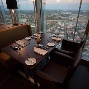Standing 726.2 feet above Oklahoma City, Vast offers diners a unique view of the Bricktown Entertainment District.