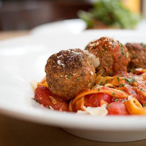 Enjoy the classics like spaghetti with meatballs at Tavolo in Tulsa.
