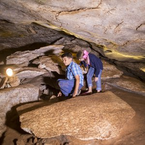 Alabaster Caverns in Freedom features unexpected natural treasures like a passageway for kids to crawl through.