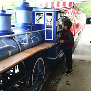 Beavers Bend State Park in Broken Bow features unexpected historical treasures like the miniature train at Beavers Bend Depot & Stables.