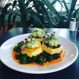 The polenta is just one of The Vault's special plant-based dishes.