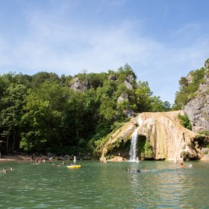 All ages are sure to have a blast at Turner Falls Park in Davis.