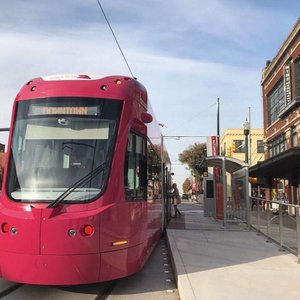 Take a tour of Automobile Alley Entertainment District with a stop at the adjoining Oklahoma City Streetcar platform.